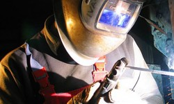 Carry out the welding process