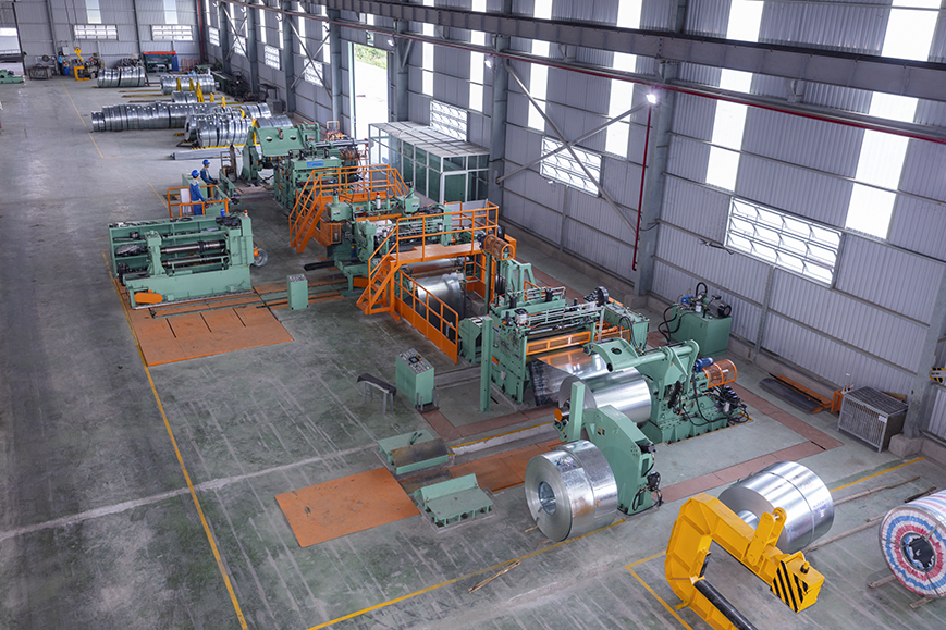 Hong Ky High Speed Steel Coil Slitting line – model 0.3 ~ 3.2 x 1350