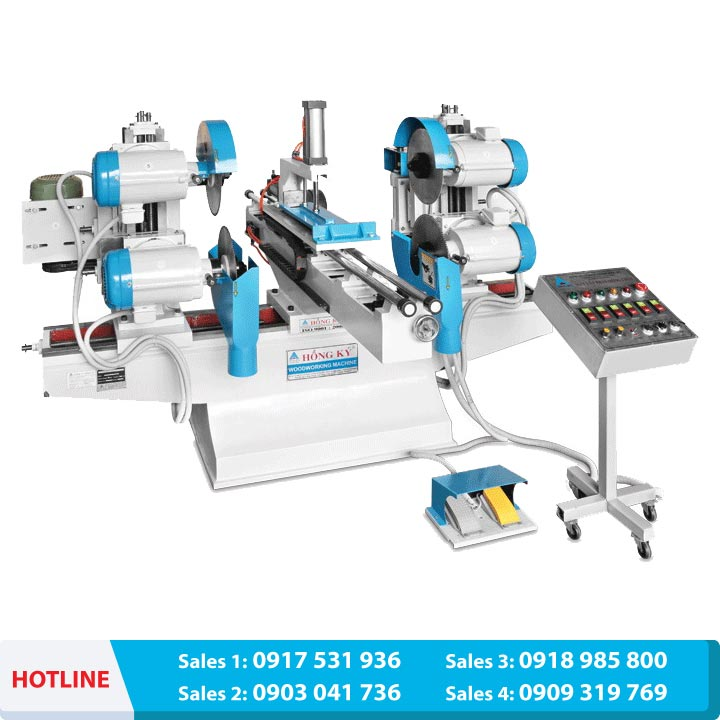 Automatic double end sawing & Shaper